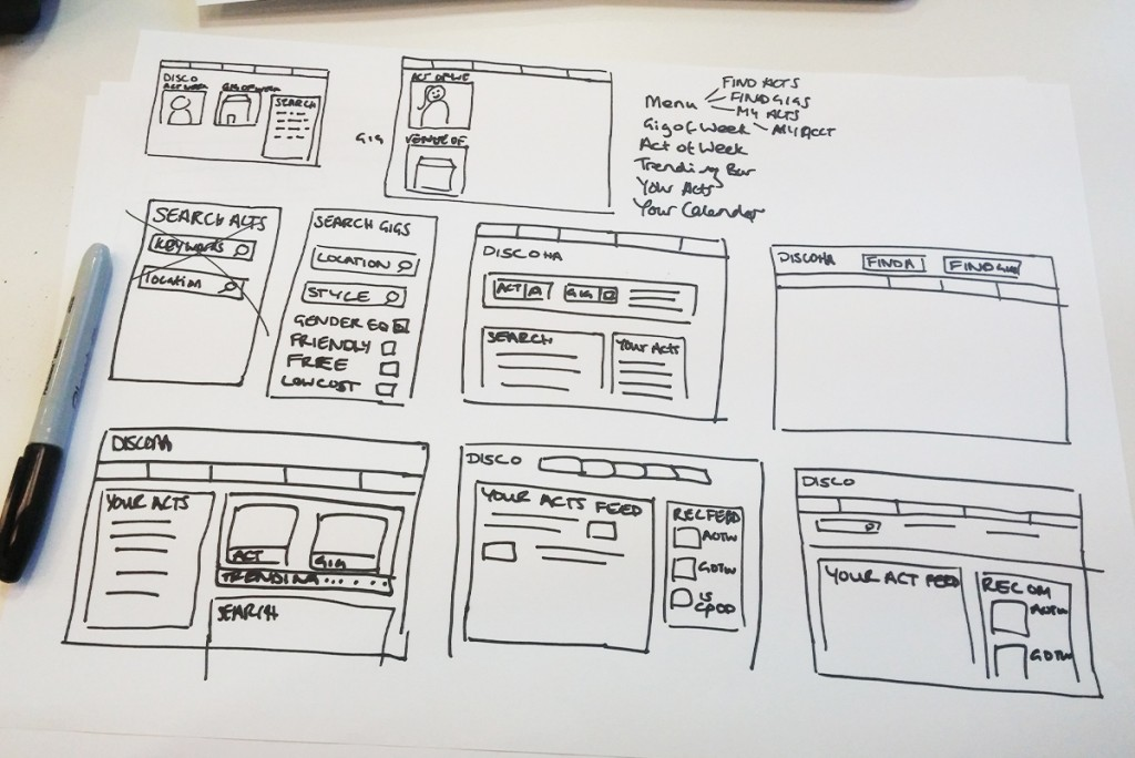 First Wireframes