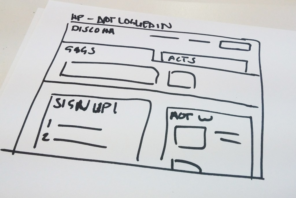 Logged out Wireframe