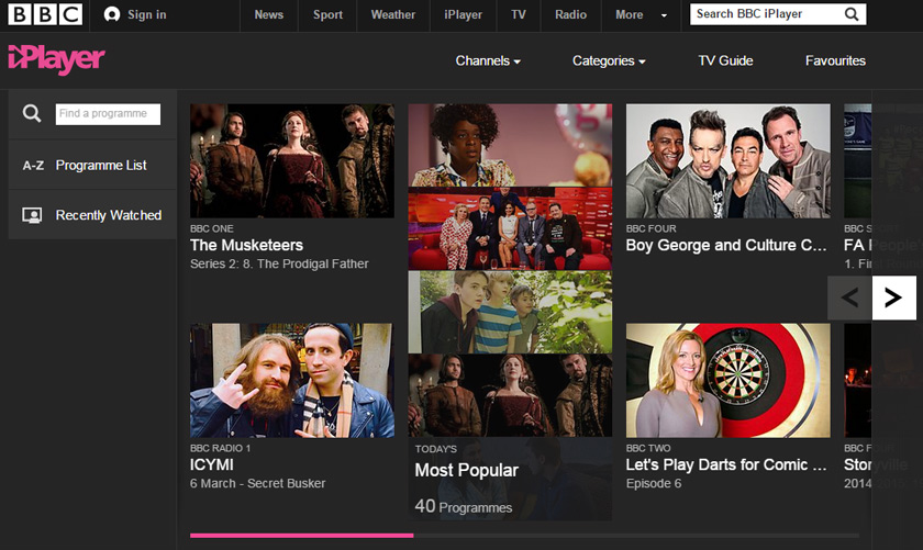 Conventions on BBC iPlayer
